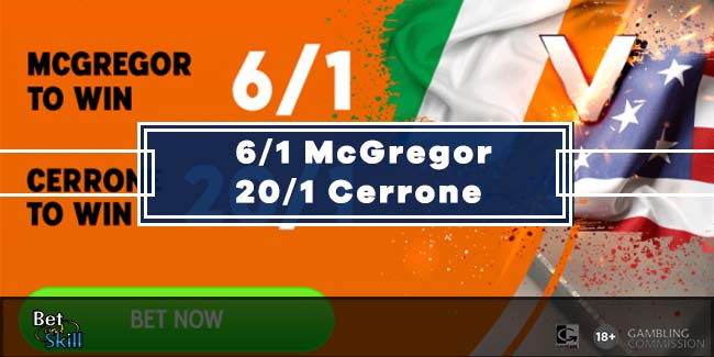 6/1 McGregor or 20/1 Cerrone to win at 888sport (UFC 246 Enhanced Odds)