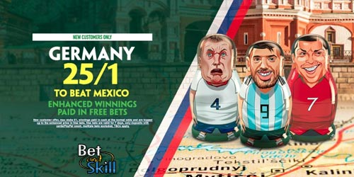25/1 Germany to beat Mexico at Paddy Power (World Cup crazy price)