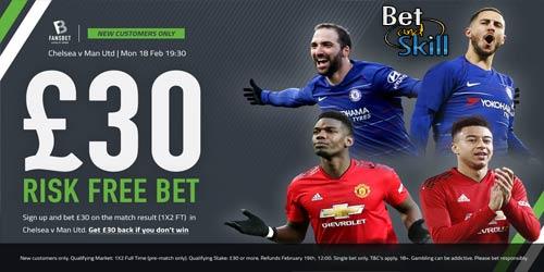 Chelsea vs Man UTD £30 Risk-Free Bet With FansBet