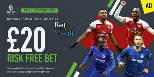 FansBet Offer £20 Risk-Free Bet On Arsenal vs Chelsea