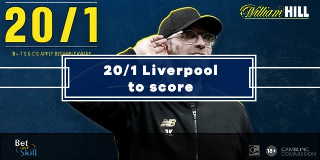 William Hill Offer 20/1 Liverpool To Score vs Man UTD