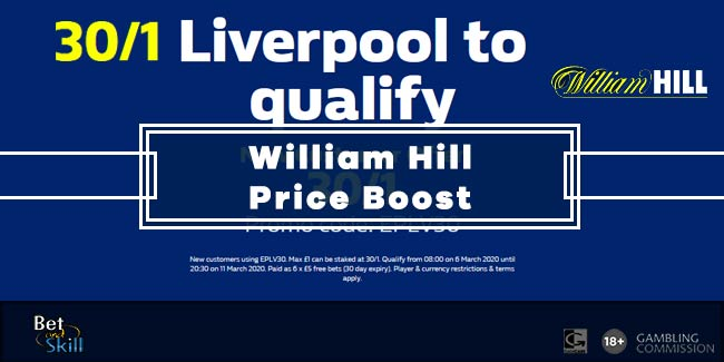 Get 30/1 Liverpool To Qualify vs Atletico Madrid at William Hill