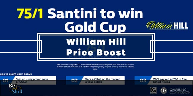 75/1 Santini To Win The Cheltenham Gold Cup at William Hill