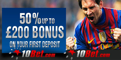 New massive Welcome Bonus at 10Bet for the upcoming Euro2012: up to €200 on you first deposit