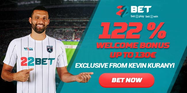 22Bet betting bonus