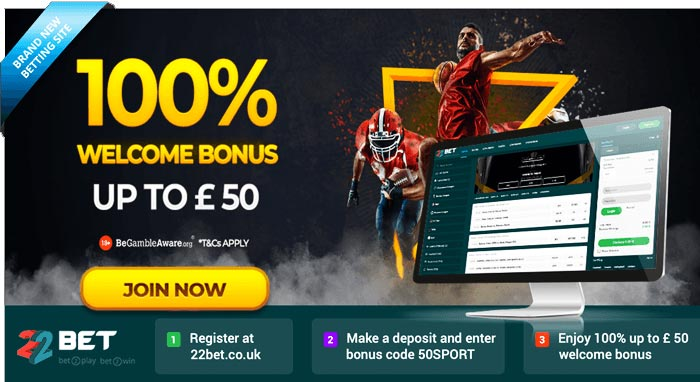 22bet uk betting bonus