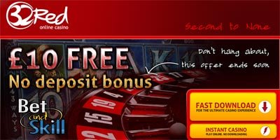 32Red Casino: £10 Free - No Deposit Bonus - UK only