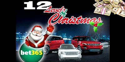 Win a luxury car with bet365 Casino's 12 Levels of Christmas promotion