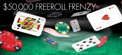 Play tournament poker with bet365's $50,000 Freeroll Frenzy