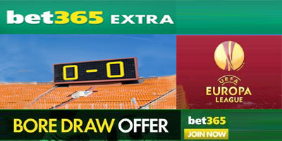 Europa League Bore Draw money back promotion at Bet365
