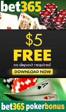 Bet365 poker $5 free bonus