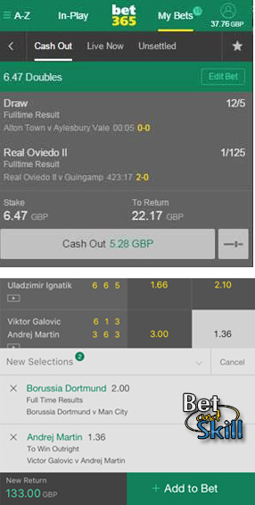 Bet365 Edit Bet - How to add a selection