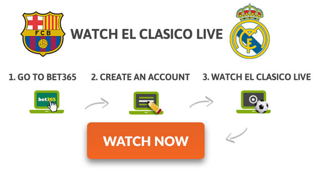 Watch El Clasico Live on Bet365