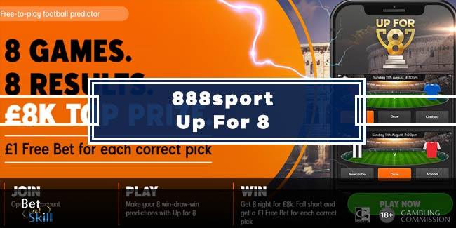 Up For 8 Betting Tips - 888sport No Deposit Predictor Game