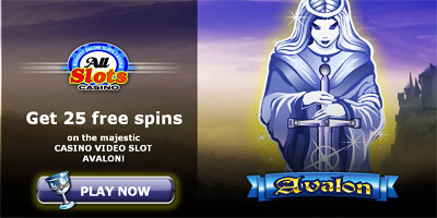 Get 25 free spins on the majestic CASINO VIDEO SLOT AVALON
