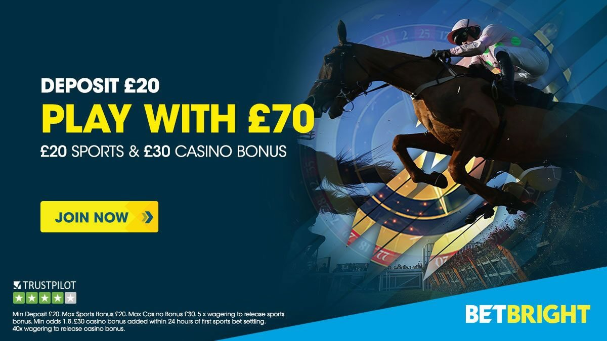 BetBright £100 free bets