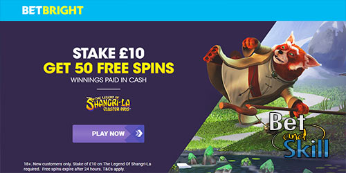 Betbright Casino Bonus - Stake £10 & Get 50 Free Spins