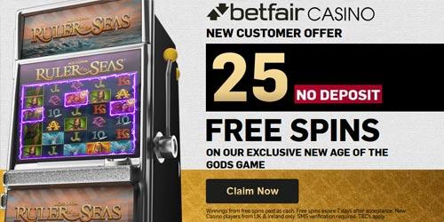 Betfair Casino 25 No Deposit Free Spins! No Wagering, No Capped Winnings!