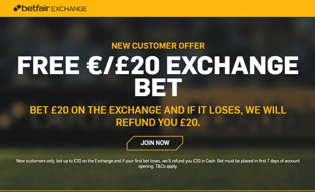 betfair betting exchange bonus