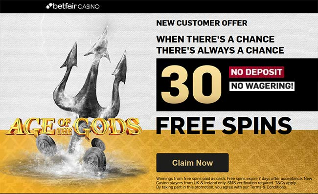 betfair casino no deposit free spins