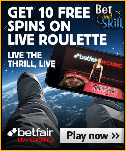 Betfair Live Casino casino - 10 free spins no deposit required