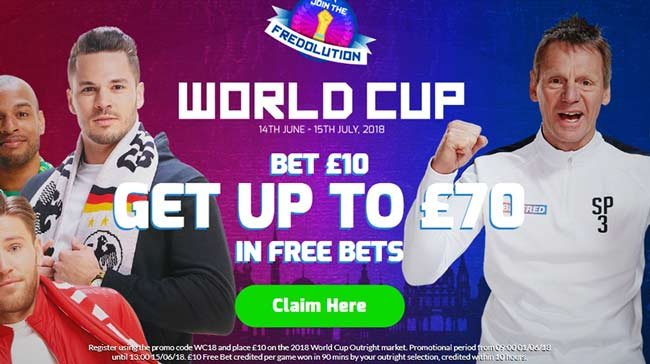 betfred bet 10 get 70 free bets