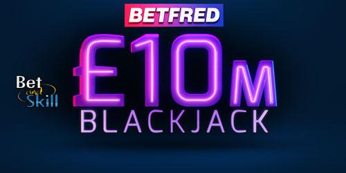 £10 Million Betfred Blackjack - Get 5 Golden Chips & 50 Free Spins
