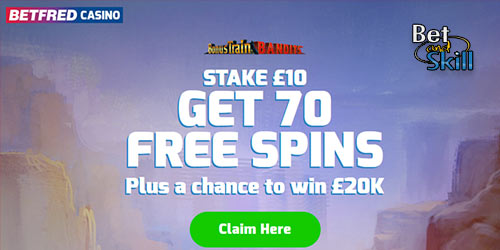 Betfred Casino: Stake £10 Get 70 Free Spins With Bonus Code CASINO70