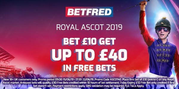 Betfred 2019 Royal Ascot Bonus Code: Bet £10, Get Up To £40 In Free Bets