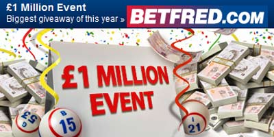 Betfred Bingo Launches £1Million Event, the biggest giveaway of the year