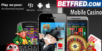 Betfred Casino Games available on Mobile (iPhone, Blackberry, Android)