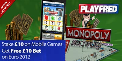 Betfred Games: Stake £10 on Mobile Games - get a free £10 bet on Euro 2012!