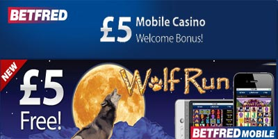 Wolf Run - New to Betfred Mobile Casino - Free 5 pound for every player