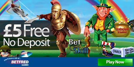 Free 5 pound No Deposit Bonus at Betfred Mobile