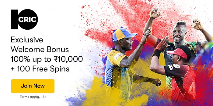 10CRIC Welcome Offer ₹10,000 Bonus + 100 Free Spins!