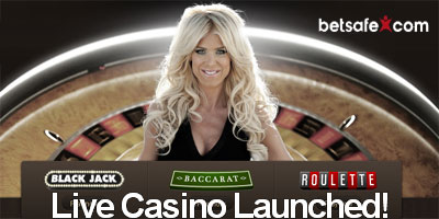News from Betsafe.com: Live Casino Launched !
