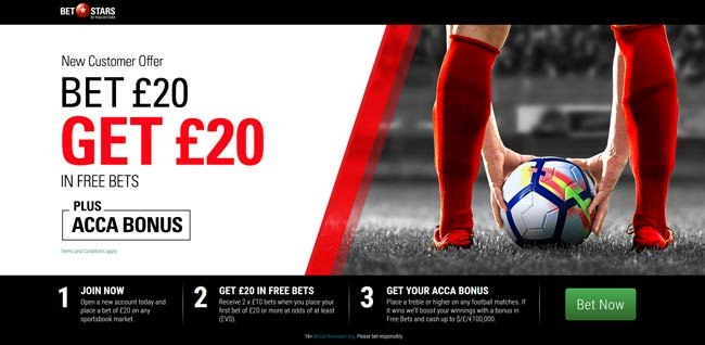BetStars betting bonus