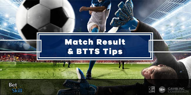 Midweek's Match Result & BTTS tips and accumulators (WilliamHill coupon)