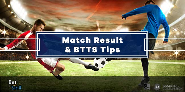 This Weekend's Match Result, BTTS Tips & Accumulators with William Hill