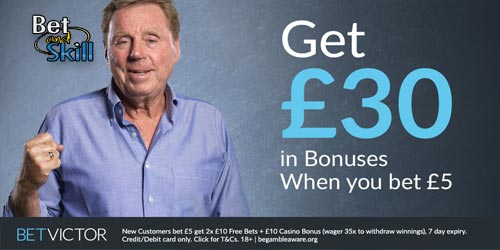 Bet £5 get £30 Free Bets at BetVictor (No Bonus Code Needed)