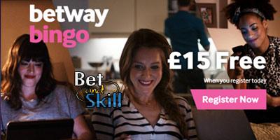 Betway Bingo €/£15 no deposit bonus offer. Play free bingo online!