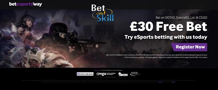 Betway eSports Betting Bonus