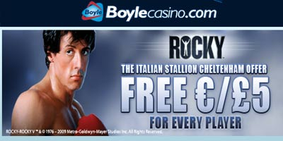 Boylecasino: The Italian Stallion free €/£5 offer (no deposit)