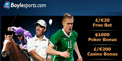 Boylesports Review: an Irish bookmaker with a wide range of sports, bonuses and games