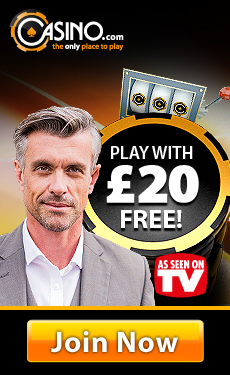 Casino.com £20 no deposit bonus