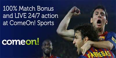 ComeOn sportsbook review: 100% deposit bonus and LIVE 24/7 action