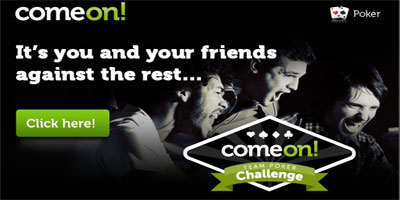 ComeOn: Team Poker Challenge is back with a 10,000 USD live poker prize