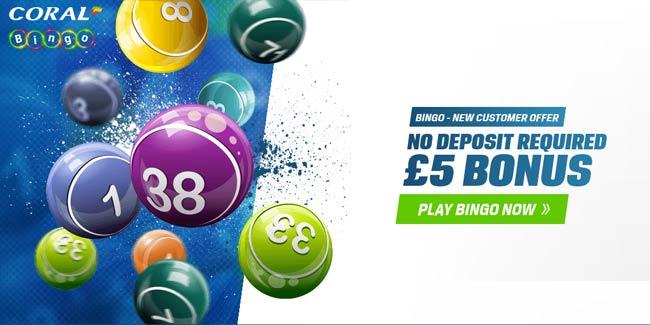 Coral Bingo 5 No Deposit Bonus Start Playing Online Bingo For