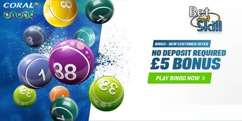 Coral Bingo £5 No Deposit Bonus - Start Playing Online Bingo For Free