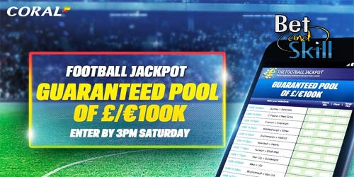 Turn £1 into £1,000,000 with the new Coral Football Jackpot. Learn how to play here!